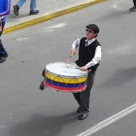 Drummer by Tara  Smith - People Musicians & Entertainers ( music, parade, insturment, drum, entertainer )