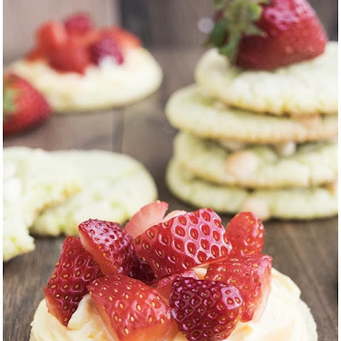 Strawberry Lime Cookies