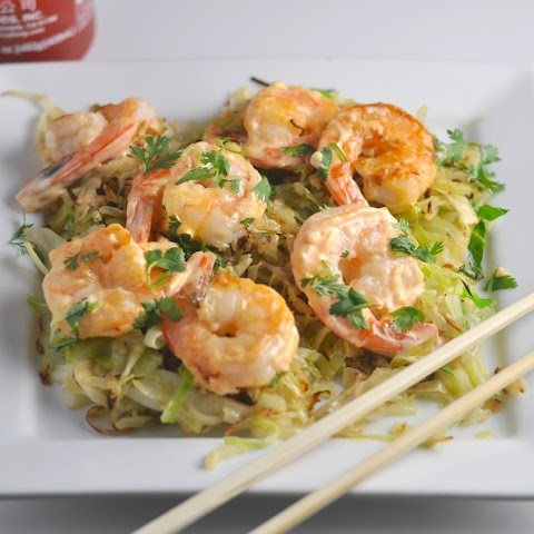 Low Carb Spicy Shrimp with Crispy Cabbage