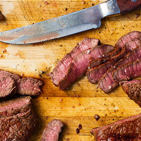 Beer-Marinated Rump Steaks