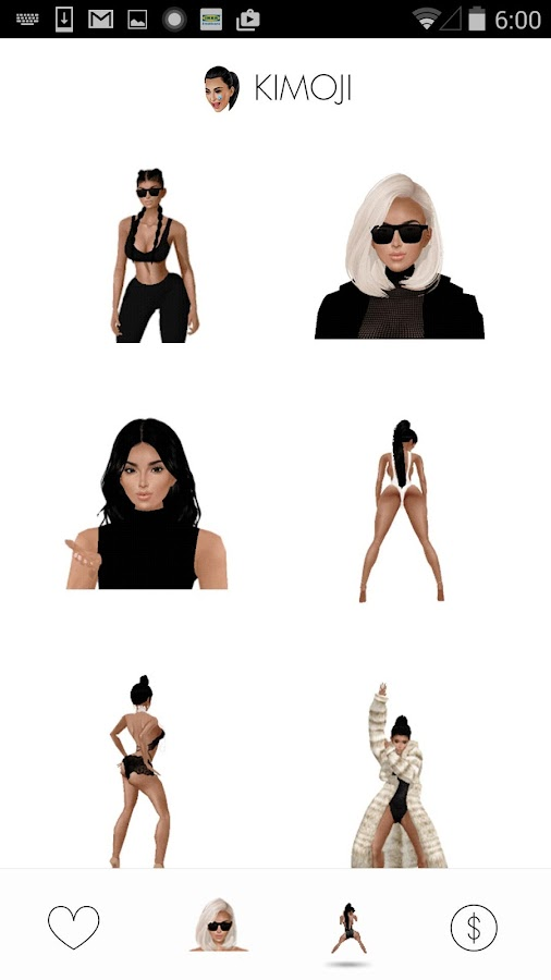KIMOJI by Kim Kardashian West Screenshot 2