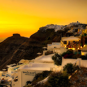 by Nikos Diavatis - Buildings & Architecture Office Buildings & Hotels ( sunset )