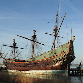 The Bataviastad (dutch old vessel) by Bob Has - Transportation Boats ( vessel, old, bataviastad, dutch, lelystad,  )