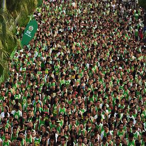 Speed heads by Reagan Estrella - People Street & Candids ( athletes, green, runners, people, marathon, people's power )