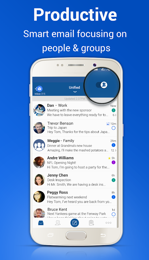 Blue Mail - Email Exchange Screenshot 1