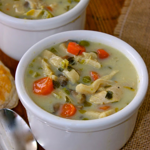 Homemade Creamy Chicken Noodle Soup