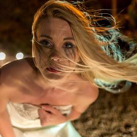 Head lights by Lee Niven - Wedding Other ( model, wedding dress, kate, beach, cute, blonde, bridal, leeniven, woman, dress, wedding, dark, bride )