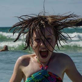 The Little Mermaid by Graeme Murray - Babies & Children Children Candids ( water, face, laugh, splash, sea, fun, smile, portrait )