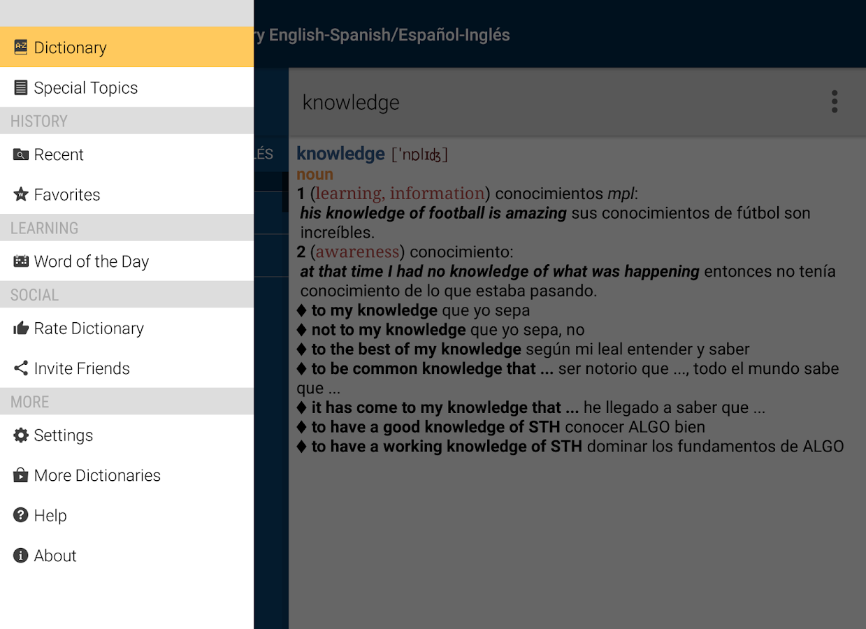 Vox Advanced English<>Spanish Screenshot 9