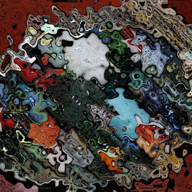 Abstract marbles by Dave Parks - Abstract Patterns ( abstract, colors, clam, marbes )