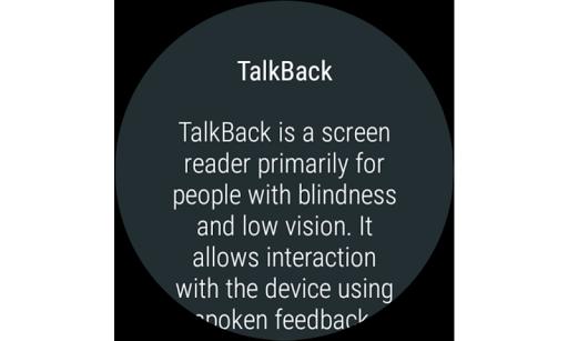 Google TalkBack screenshot 5