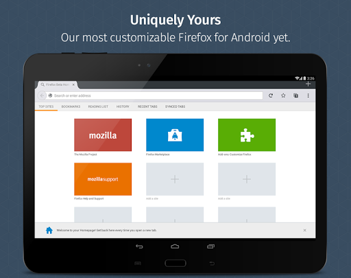 Firefox for Android Beta screenshot 9