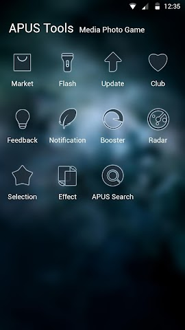 android Glassy sky theme for APUS Screenshot 2