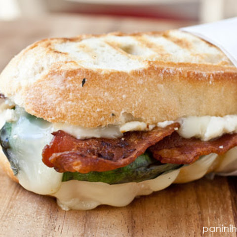 Brie, Basil, Bacon and Blue Cheese Panini