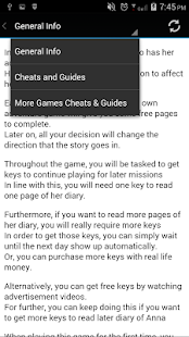Cheats Guide DEAR DIARY GAME - screenshot
