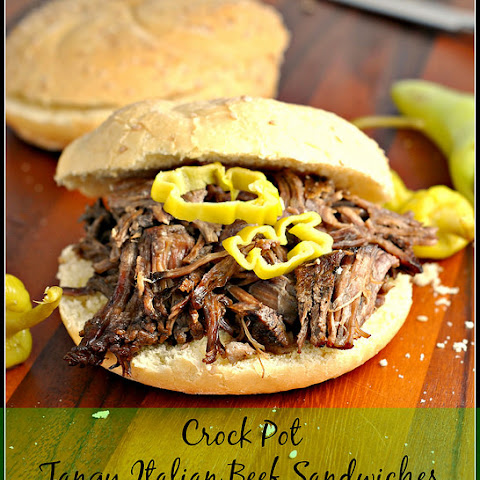 Crock Pot Tangy Italian Beef Sandwiches