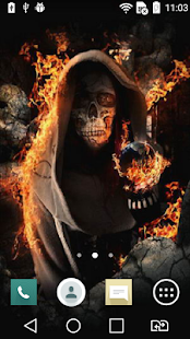 Skeleton live wallpaper - screenshot