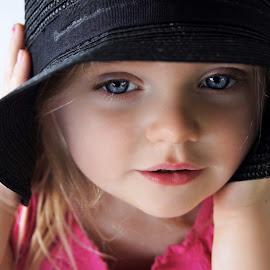 Black Hat by Cheryl Korotky - Babies & Children Child Portraits