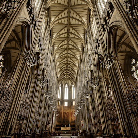 Lancing College Chapel. by Simon Page - Buildings & Architecture Places of Worship