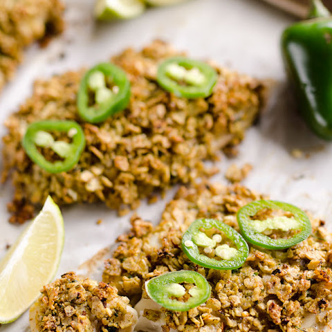 Baked Tortilla Crusted Tilapia