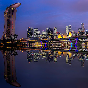 MBS reflections by Senthil Damodaran - City,  Street & Park  Street Scenes ( mds, reflections, street scene, landmark, travel, hdr )