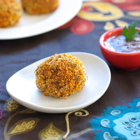 Panko Crusted Stuffing Balls (& pepper jack cheese)