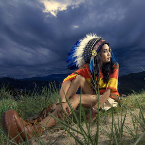 indianatista by Vantodes . - People Fashion ( grass, cloud, place )