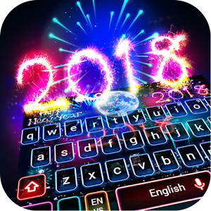 Happy New Year 2018 Keyboard Theme