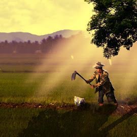 Farmer by Achmad Dwi Saputro - Digital Art People ( photomanipulation, creative, digital art, digital imaging, photography )