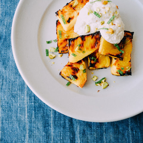 Roasted Pineapple With Cashew Cream