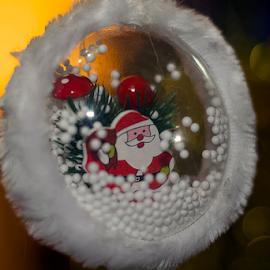 colorful christmas ball by LADOCKi Elvira - Public Holidays Christmas ( glowing decorations, holiday, christmas decorations, santa claus, glowing balls, christmas, christmas tree, decorations, christmas balls, merry christmas )