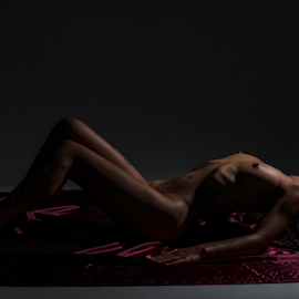 Passion by Jason Elphick - Nudes & Boudoir Boudoir ( breast, ribs, shadow, bodyscape, nipple, single light )