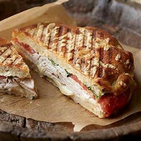 panera bread sierra turkey sandwich on asiago cheese focaccia