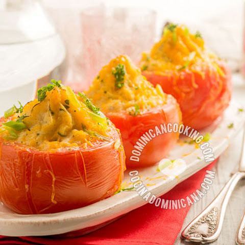Tomatoes Stuffed with Cheese and Mashed Potatoes