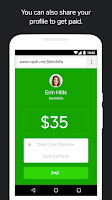 Screenshot of Square Cash