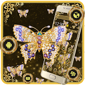 App Golden Butterfly Luxury Theme APK for Windows Phone