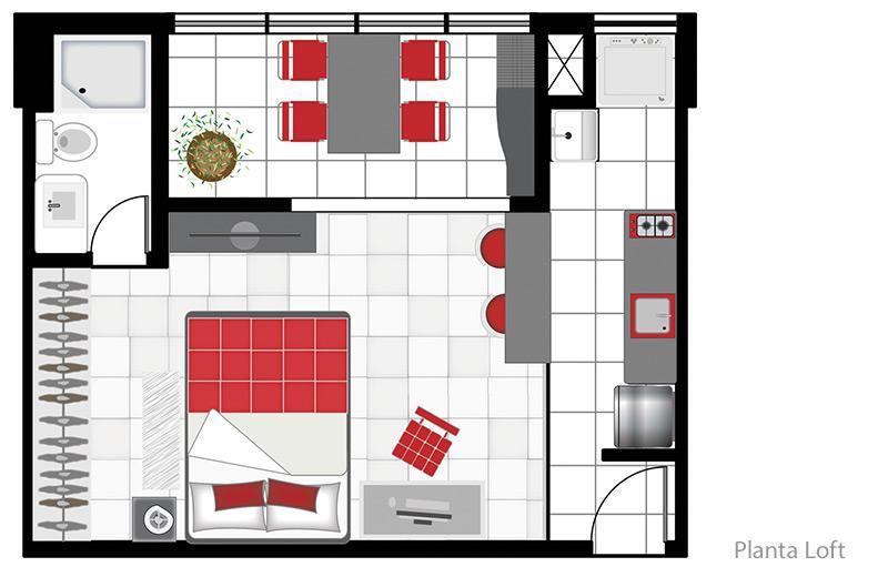 Loft de 1 dormitório à venda em Loteamento Mogilar, Mogi Das Cruzes - SP