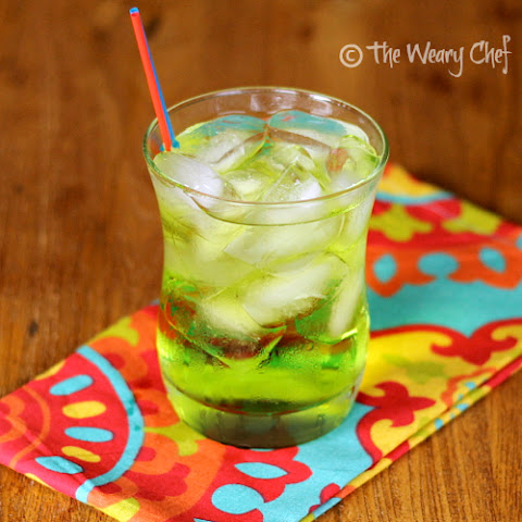 A fun Midori cocktail with coconut rum
