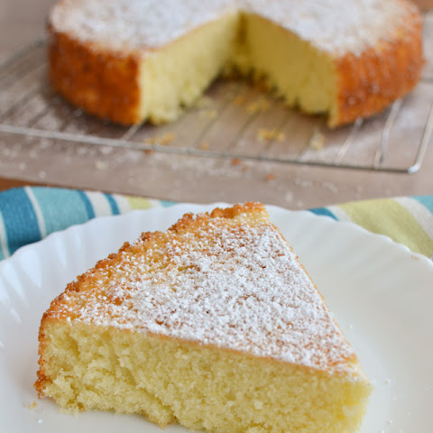 Simple Lemon Olive Oil Cake 9 inch round cake