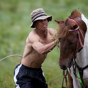Horse Keeping :) by Endra Martini - People Portraits of Men
