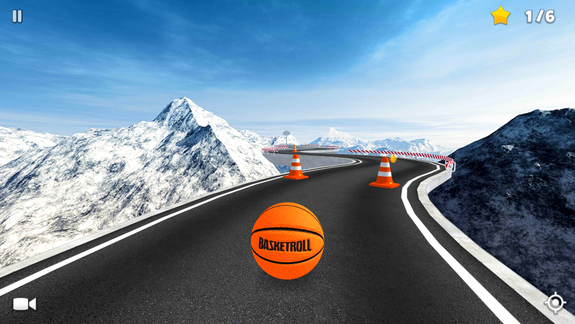 BasketRoll 3D: Rolling Ball Screenshot