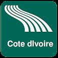 Cote dIvoire Map offline