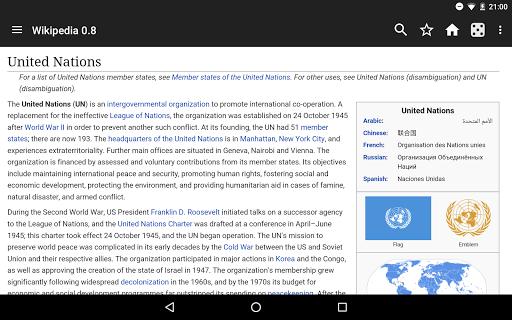 Kiwix, Wikipedia offline screenshot 11