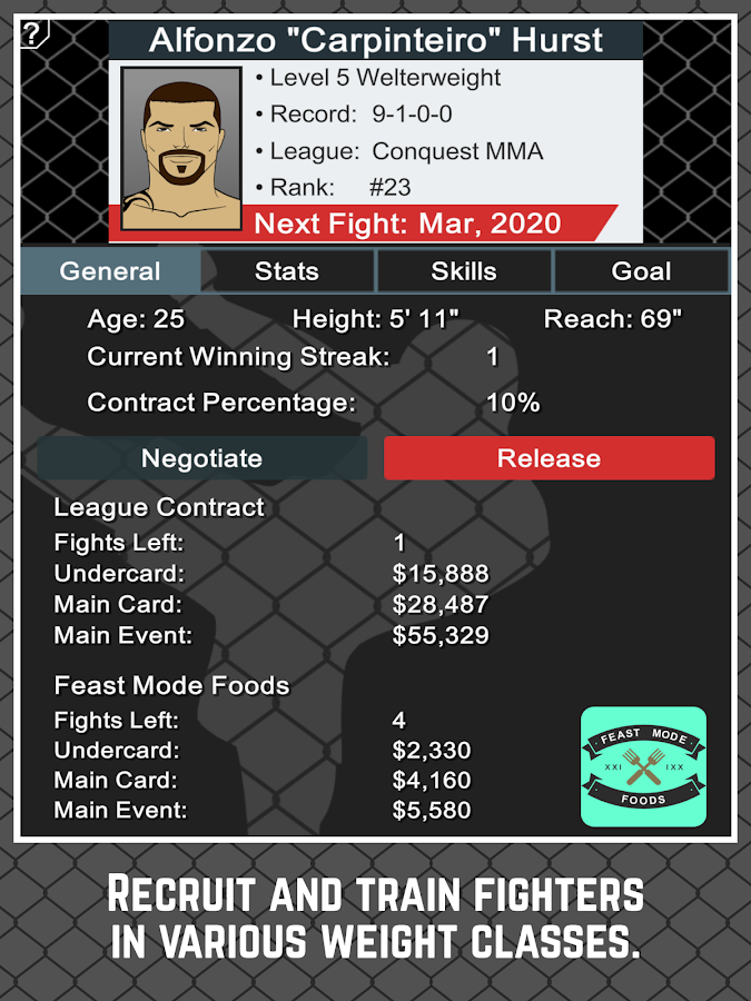 MMA Manager Screenshot 7