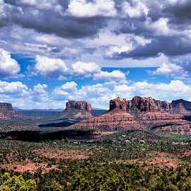 Arizona by Scott Bryan - Landscapes Mountains & Hills ( clouds, desert, sky, mountain, 68steelphotos, arizona, sedona, landscape )