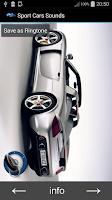 Screenshot of Sport Cars Sounds