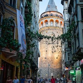 Istanbul by Haddouchi Tarik - City,  Street & Park  Street Scenes ( galata, night, turkey, istanbul, city )