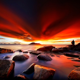 Red Devils horns by Dany Fachry - Landscapes Beaches