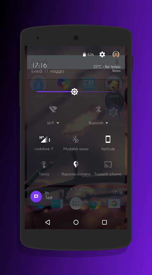 Transparent Purple -CM13 Theme Screenshot 2