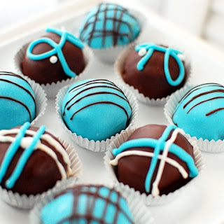 Baby Blue Velvet Cake Truffles {Virtual Baby Shower}